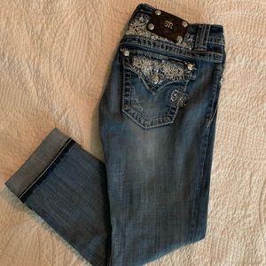 Miss Me Crop Pants Size 27